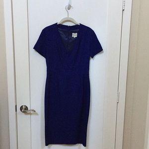 Reiss Navy Sheath Work Dress Size US 4